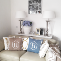 H MONOGRAM Blue - Madiva Creative